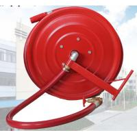 Quality Red Fire Hose Reel And Cabinet Automatic / Manual Swinging Fire Fighting Hose Reel for sale