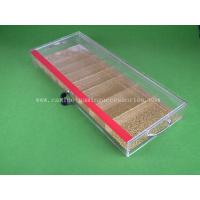 China 9 Row Different Size Transparent Poker Chip Tray Acrylic baccarat Table Dealer wholesale