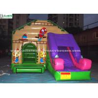 Quality Commercial Jungle Combo Inflatable Bouncy Castles With Slide For Outdoor Use for sale