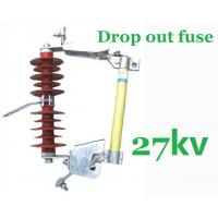 China 27kV Overhead Line Drop Out Fuse , Polymer Cut Out Fuse Creepage Distance 480mm on sale