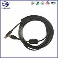 Quality Printer Wire Harness with WE AFB 3W800 Round Solid USB Connector for sale