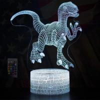 Buy Kids Christmas Gift Birthday Toy Dinosaur Night Lights 3D Illusion Lamp Animal Light Led Lamp at wholesale prices