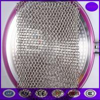 Quality China 7*7 Inch Stainless Steel Chainmail Scrubber for sale