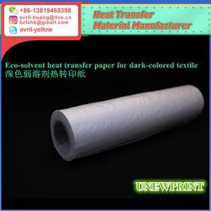 Quality 1.11m*30m anti-sublimation dark color eco solvent heat transfer vinyl for sale