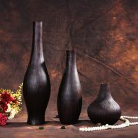 Quality euro style wood decorative vase for dried flower for sale