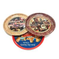 China premium round serving tin trays on sale