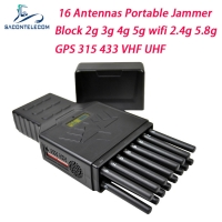 Quality Portable 12W WiFi 2.4G 5.8G GPS Signal Jammer Blocker for sale