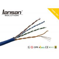 Quality BC Material UTP Cat5e Cable 24 AWG Bare Copper Normal PVC Network Wire Stranded for sale