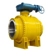 Quality Cast Steel Side Entry Trunnion Ball Valve Good Flow Adjusting Ability for sale