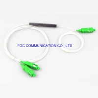 Quality CATV Systems SC APC Ftth Plc Splitter 1*2 Micro Steel Tube G657A for sale