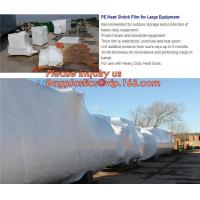Quality biodegradable shrink wrap 200 mic construction industrialJumbo construction industrial uv shrink wrap for yacht covering for sale