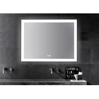 Quality LED Illuminated Touch Screen Bathroom Mirror With Aluminum Frame Sensor Demister for sale