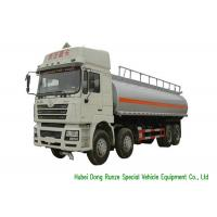Quality SHACMAN 10 Wheeler Heavy Oil Tanker Truck , Gasoline Delivery Truck 30000 Liters for sale
