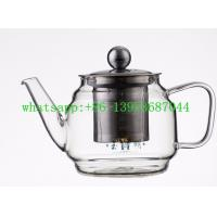 China high quality clear and colorful Handmade Heat Resistant  borosilicate Glass Teapot on sale