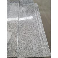 Buy cheap Cheapest Chinese Pearl White Grey granite Stair ,White Granite tiles,Step&Riser from wholesalers