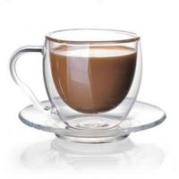 Buy cheap Glass coffee cup set from wholesalers