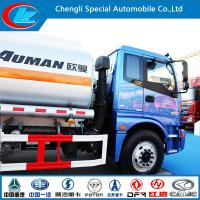 Quality Euro III 2 Axle Aluminum Fuel Tank Truck of 15cbm Capacity for sale