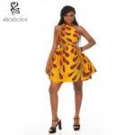 OEMレトロの促された様式のアフリカの装いの服/100%綿のワックスの印刷物は服を着ます