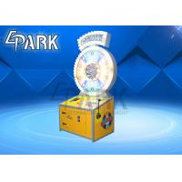 Spin N Win Lottery Redemption Equipment / Ticket Vending Machine Drop Coin Game