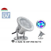 Quality Stainless Steel LED Underwater Pool Lights RGB 4 Wires WIFI Control With Mobile Phone for sale