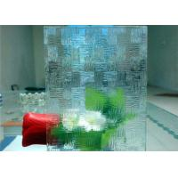 Quality Economical Decorative Patterned Glass / Figured Glass With 3mm - 8mm Thickness for sale
