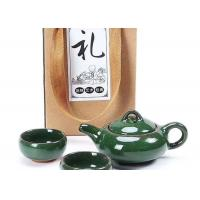 Quality Gift Packing Promotional Ceramic Mugs Green Small Ceramic Tea Cups With Teaport for sale