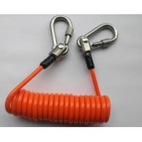 Plastic Coiled Lanyards Spring , Wrist Lanyards With Swivel Stainless Steel Carabineer