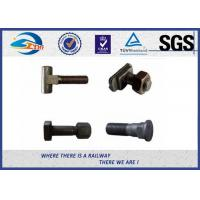 Quality Railroad Fastener Qualified Railway Bolt  with washer / heavy square nuts for sale