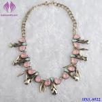 Fashion Handmade Elegant Sweet Crystal Flower Waterdrop Pendant Gemstone