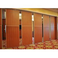 China Red Fireproof Partition Wall Hanging Sliding Door For Exhibition Halls on sale