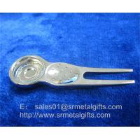 Buy Metal golf repair pitchfork tools with magnet, magnetic ball marker golf divot tool, at wholesale prices