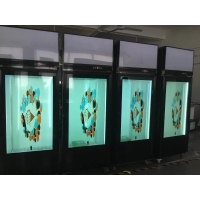 China LCD transparent glass door for showcase glass display on sale
