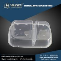 Quality 1000ml professional plastic thin wall double compartment lunch box mould making for sale