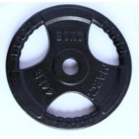 Quality Black three-hole plastic hand grab weight lifting barbell for sale