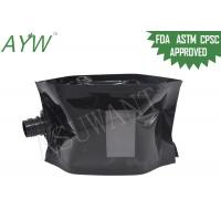Quality Glossy Black Liquid Spout Bags Clear Window For Soft Drinks / Energy Drinks for sale