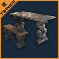 Quality Simply Marble Garden Ornaments With Outdoor Stone Bench For Decking for sale