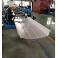 Quality Adjustable Width Standing Seam Roof Panel Roll Forming Machine With Auto Seamer for sale