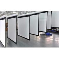 Buy White Motorized Silver Projection Screen With Remote Control For Metting Room at wholesale prices
