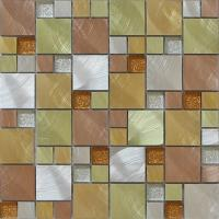 Gliter crystal glass mix metal mosaic perfect for living room background