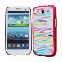 Quality PC Mobile Phone Cases for Samsung S3/i9300 with Colorful Zebra Stripe, Various Colors Available for sale
