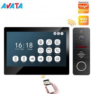 Quality IP/WiFi 4-Wire Memory 7 Inch Video Intercom Video Doorphone Home Security Interphone Video Doorbell for sale