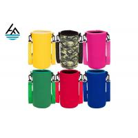 Quality Colorful Printed Can Cooler Bag , Neoprene Can Cover Simple Fashion Diving Material for sale