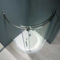 Quality Frameless Round Sliding Shower Enclosure with 10mm Clear Glass and Stainless Steel Hardware for sale
