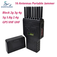 Quality DC 12v 12w 20m 16 Antennas 5G Signal Jammer Blocker for sale