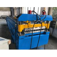Quality 380V 50Hz 3 Phases Roof Panel Roll Forming Equipment Manual Decoiler 20GP Container for sale
