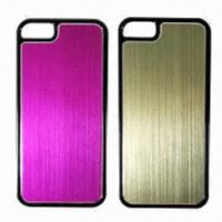 Quality Mobile Phone Case for iPhone 5, Made of Aluminum and PC, Various Color Combinations are Available for sale