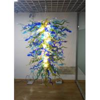 Quality Custom blown glass Drop chandeliers Art Chandelier Contemporary Handmade Blown Glass Big Chandeliers (WH-GB-08) for sale