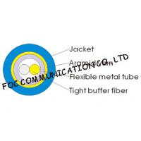 Quality 3.0mm Indoor Armored Fiber Optic Cable Duplex Round Soft and High Tensile Resistant for sale