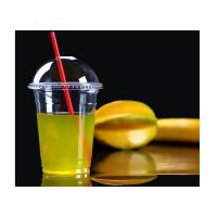 China Disposable Disposable Smoothie Cups With Lids , 480ml Custom Printed Bubble Tea Cups on sale