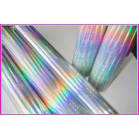 China Christmas Gift Rainbow Holographic Foil Silver Foiling 12Micron Thickness on sale